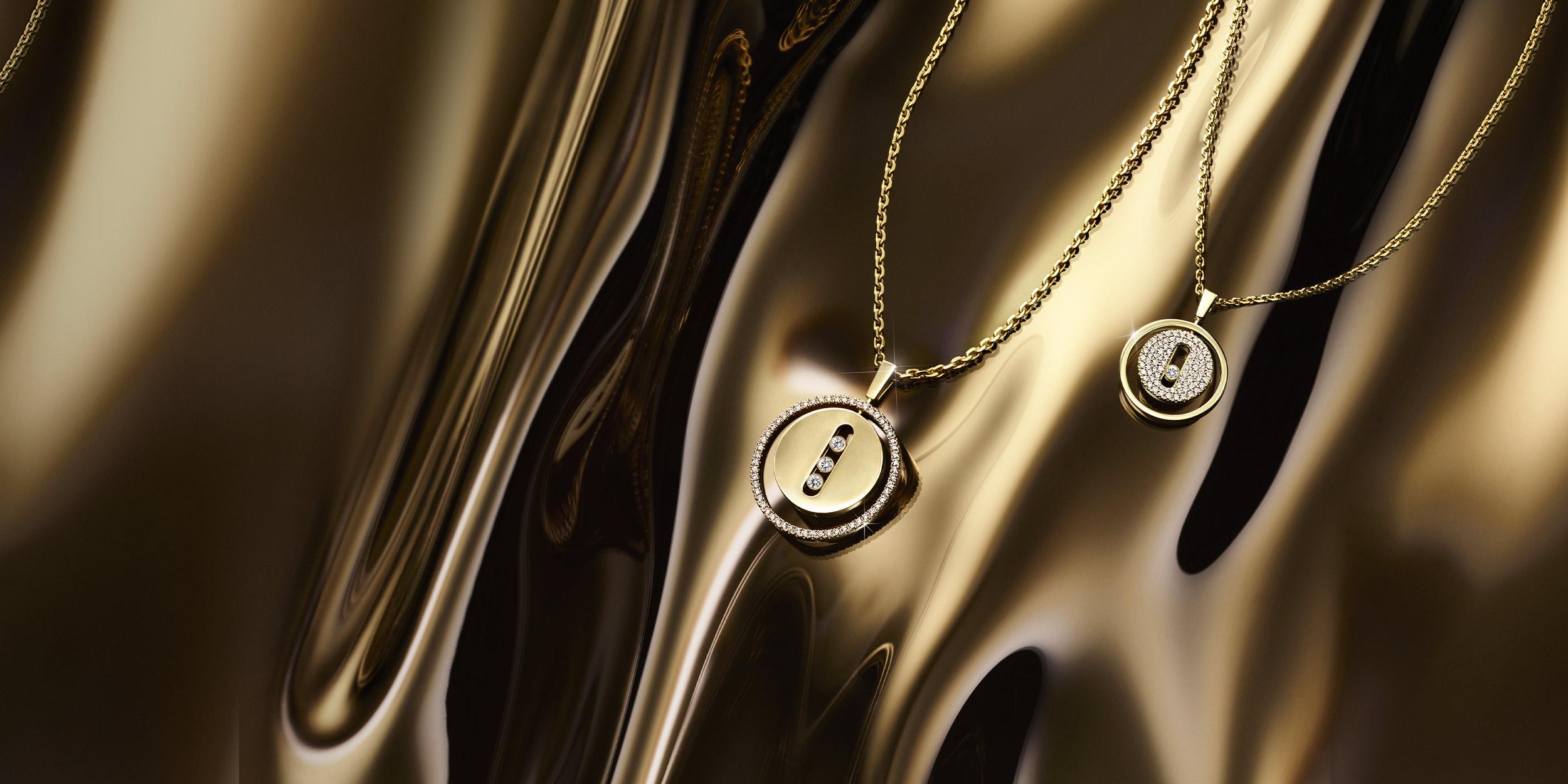 Luxury gold and diamond jewelry